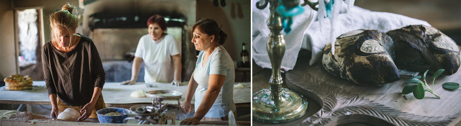 Weißbrot, gebacken von Malin Elmlid, eine Brotbäckerin, die auf der ganzen Welt Brot tauscht.