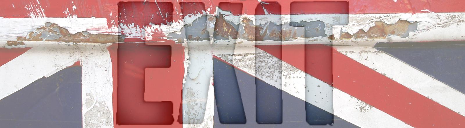 Britische Flagge, Exit, Brexit