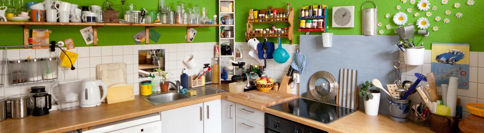 Eine Stundentenküche.