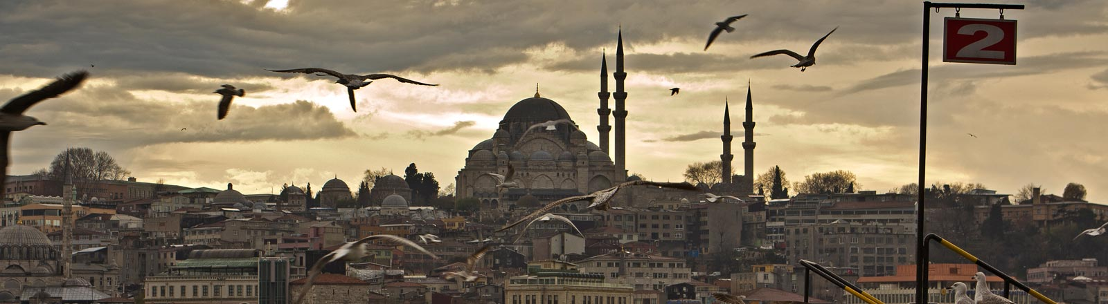 Panorama der Stadt Istanbul.