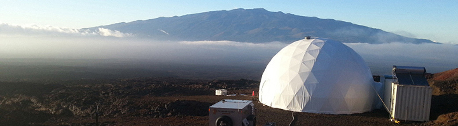 Mars-Experiment auf Hawaii.