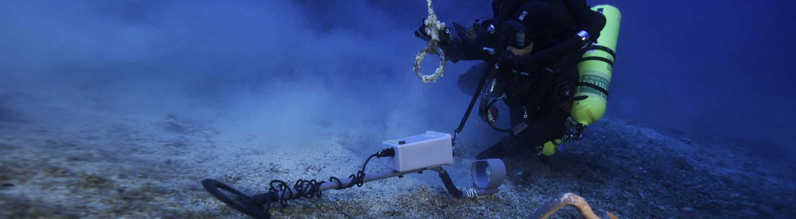 An undated photo released by the Greek Ministry of Culture on 09 October 2014 shows a diver approaching an almost intact pitcher, found at the site of underwater exploration near Antikythera island, central Aegean, Greece. The exploration took place at the site of the famous Antikythe...