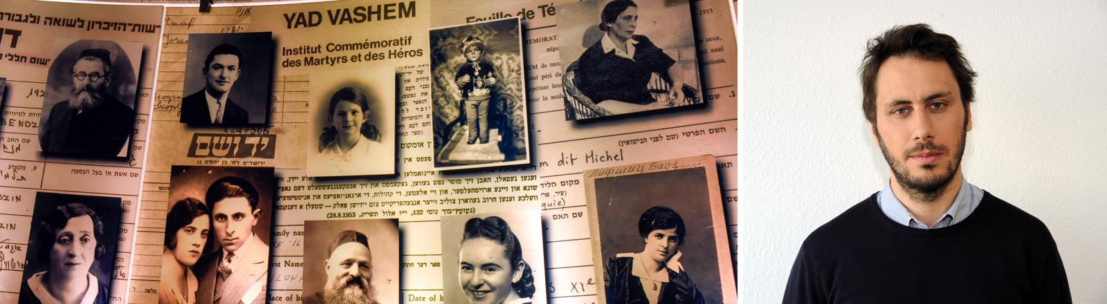 Yad Vashem - zentrale jüdische Holocaust-Gedenkstätte in Israel und ein Porträt des Journalisten Marco Maurer.