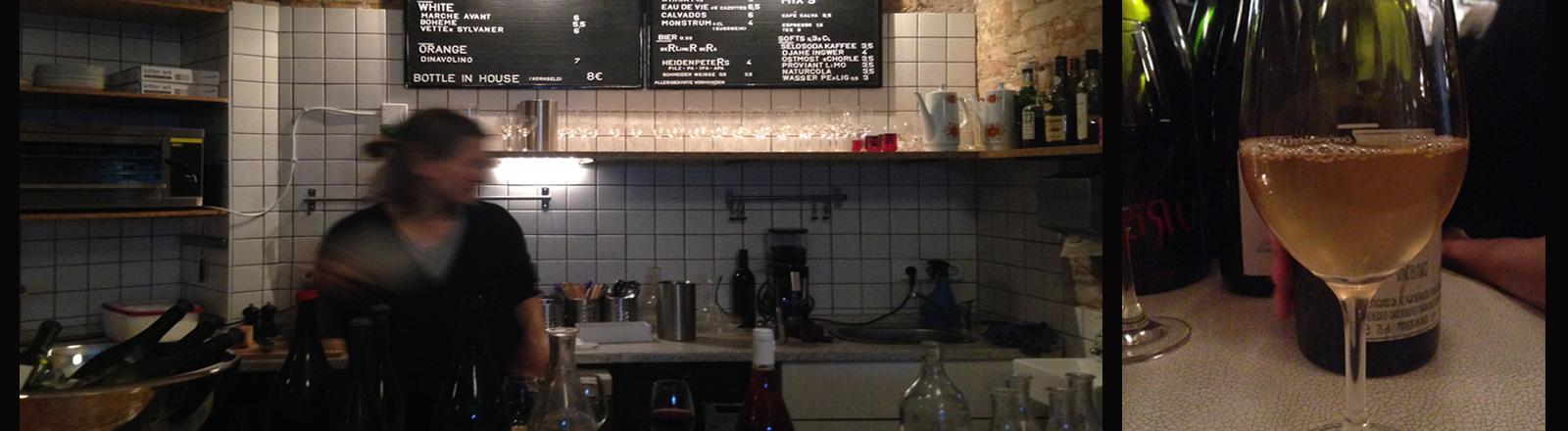 Die Weinbar Ja Ja in Berlin. Dort gibt es Naturwein.