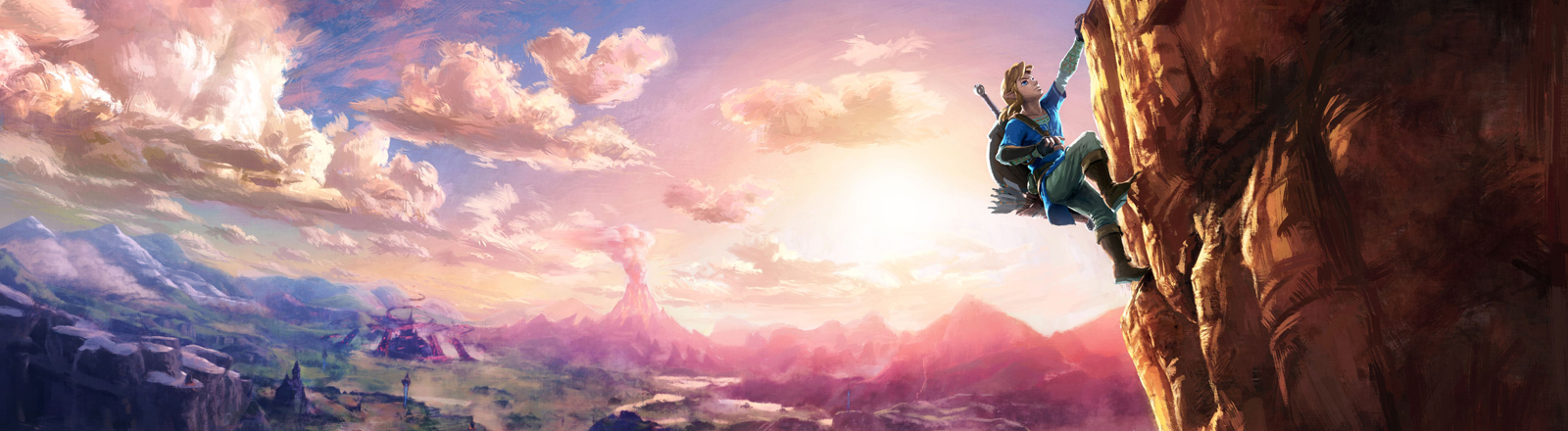 "Ein Artwork aus dem Computerspiel ""Zelda - Breath of the Wild""."