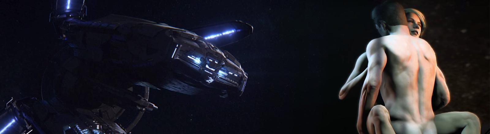 Eine Kollage aus dem Computerspiel Mass Effect Andromeda.