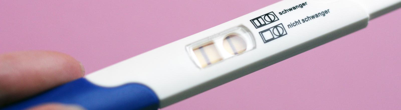 Ein positiver Schwangerschaftstest