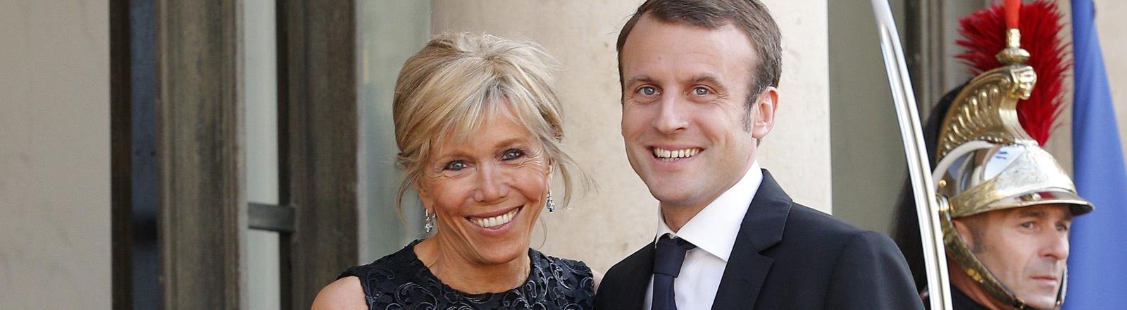Brigitte Trogneux und Emmanuel Macron