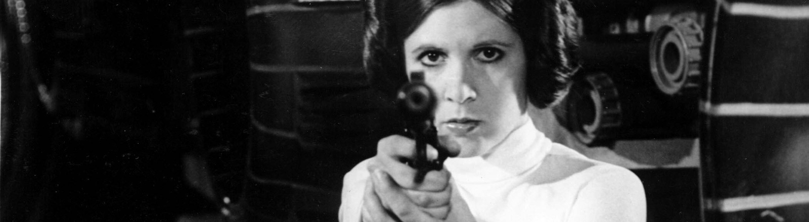Carrie Fisher als Prinzessin Leia in Star Wars 1977