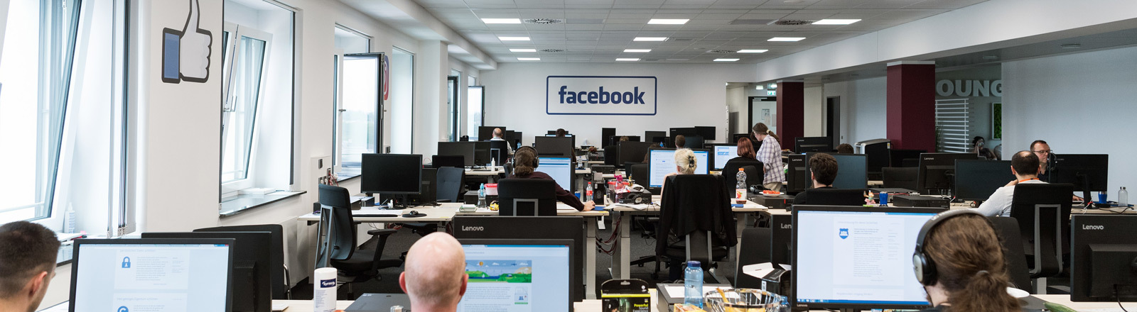 Löschzentrum von Facebook in Berlin.