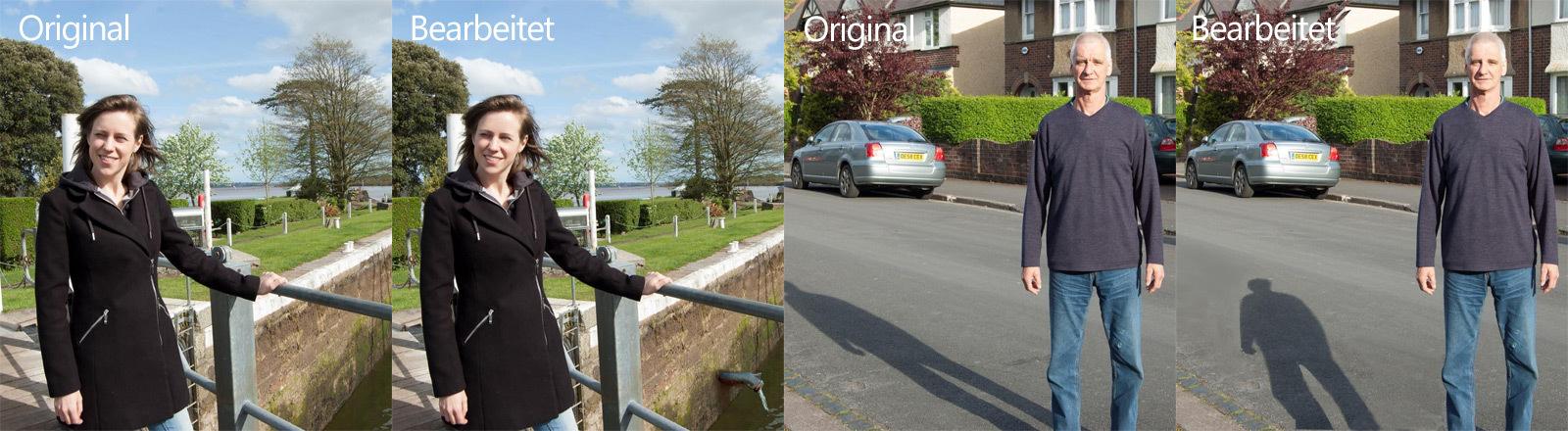 Alltagsfotos, die die University of Warwick für eine Studie zu Bildmanipulation nutzt.