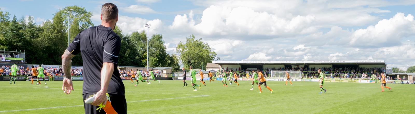 Der britische vegane Fußball Club Forest Green Rovers.