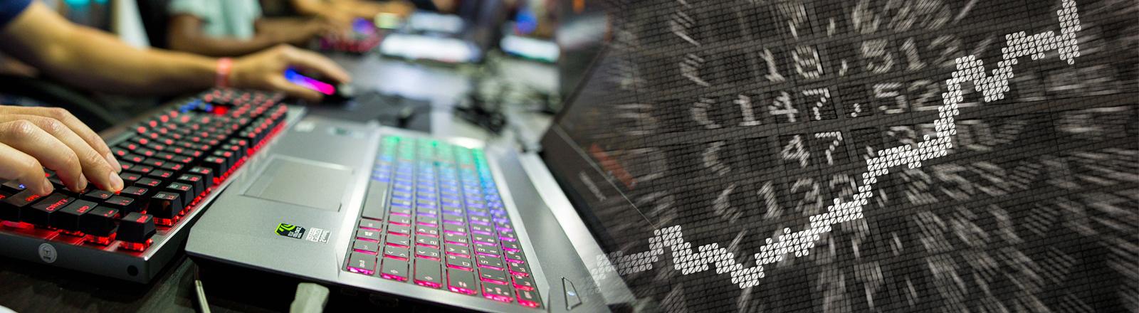Computerspiel und Aktienkurs. Wirtschaftssimulationen sind wieder in.