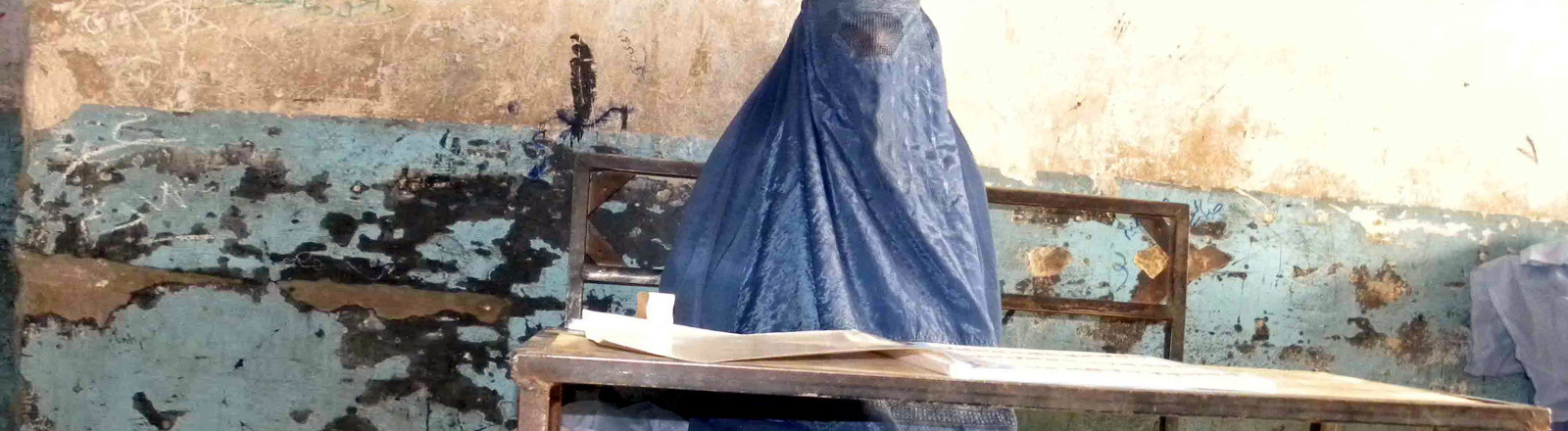 Frau in Afghanistan.
