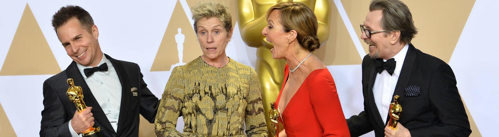 Vier Oscar-Gewinner 2018 beim Photocall.