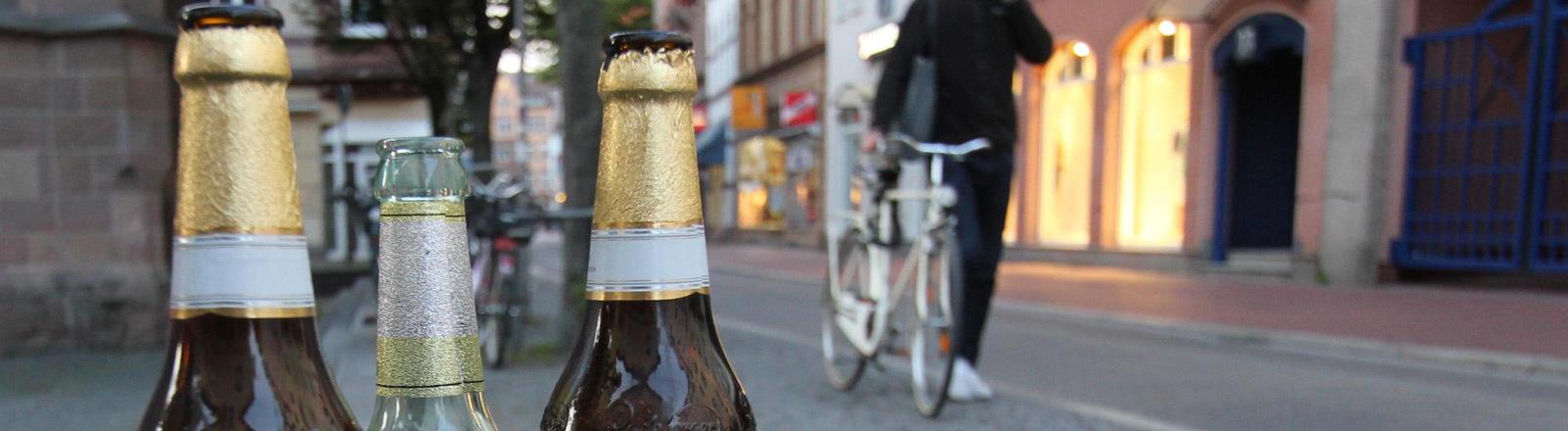 Bier in der Innenstadt.