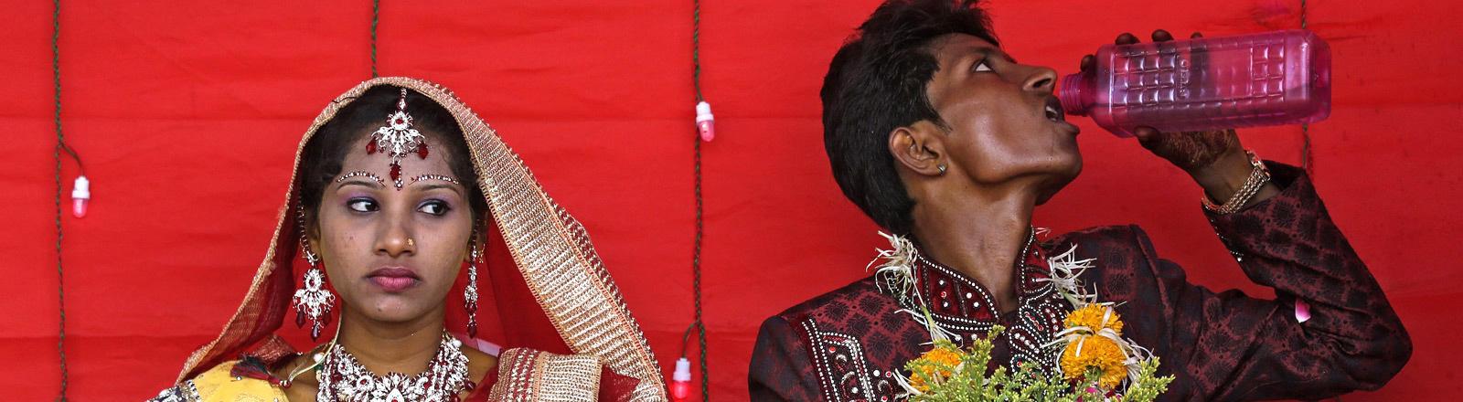 Eine indische Hochzeit.