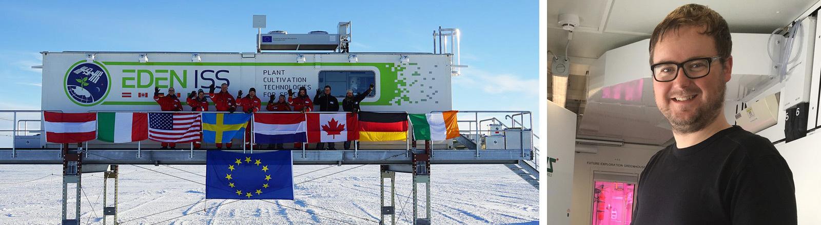 Paul Zabel testet den Gemüseanbau in der Antarktis als Probelauf fürs Weltall.
