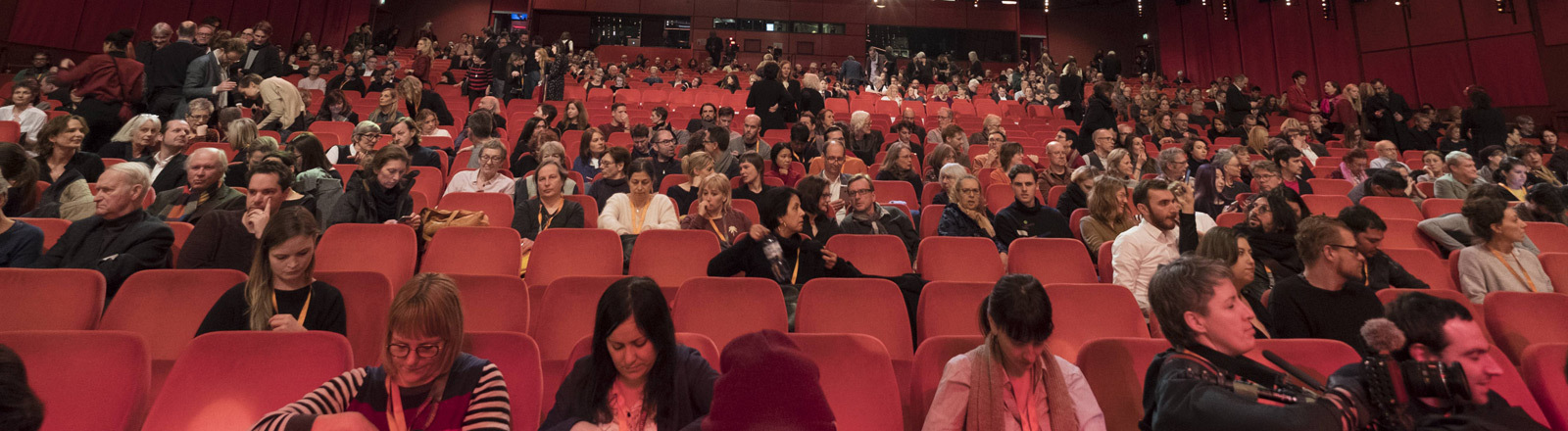 Ein Kinosaal mit Publikum.