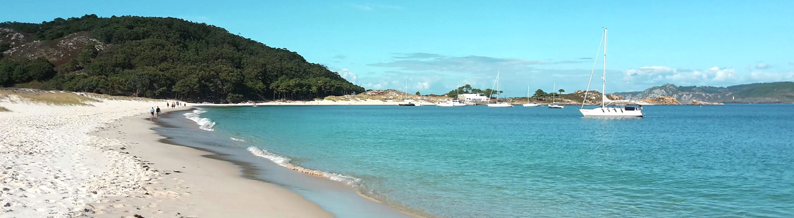 Vigo auf der Insel Islas Cies.
