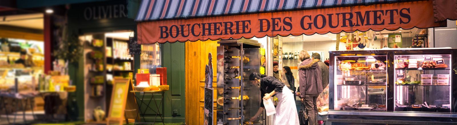 Metzgerei in Frankreich.
