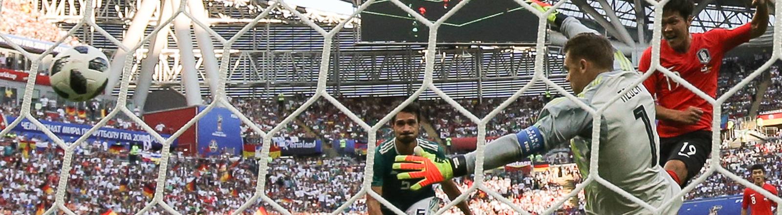Südkorea schießt im dritten Vorrundenspiel der Fußball WM 2018 das 1:0 gegen Deutschland.