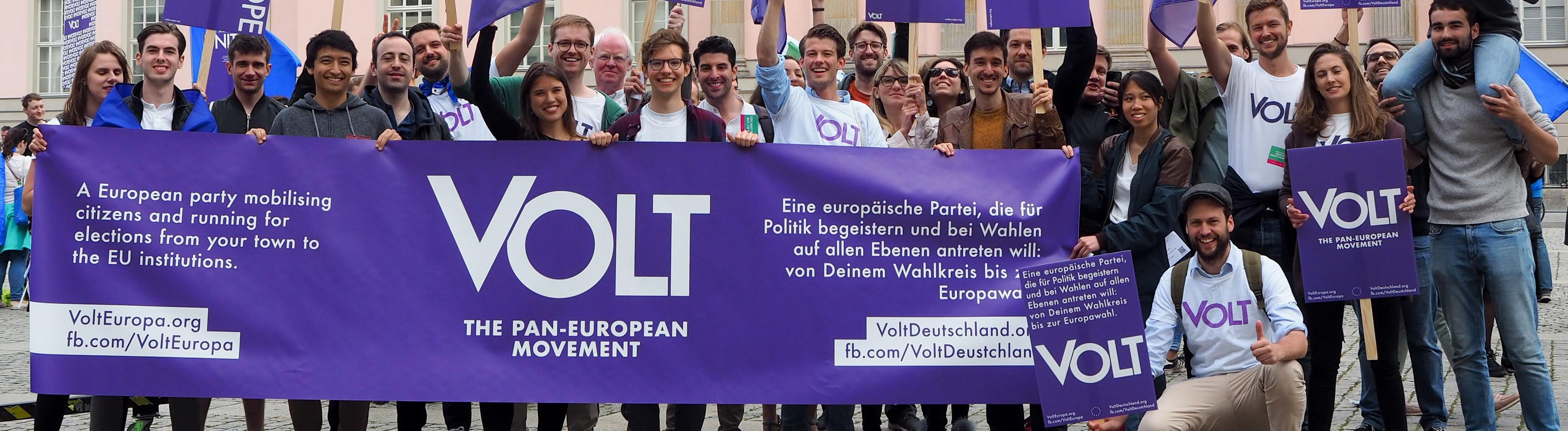 Volt-Partei wirbt in Deutschland um Unterstützung