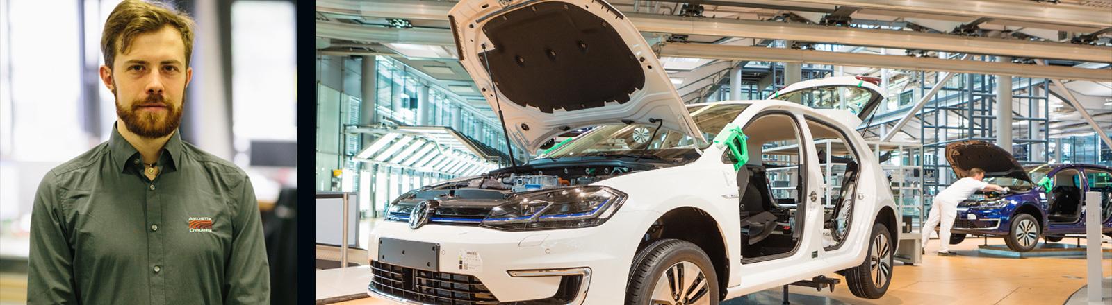 Daniel Trojer ist Akustikingenieur und designet die Akustik von Elektroautos.