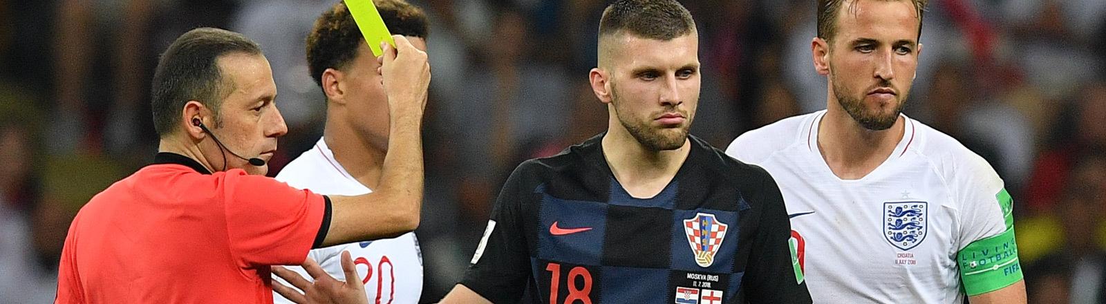 Halbfinal-Match bei der Fifa-WM 2018 zwischen Kroatien und England. Der Schiedsrichter der Partie war Cüneyt Cakir.