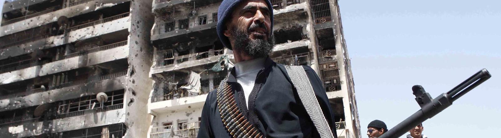 Ein Soldat in Libyen.