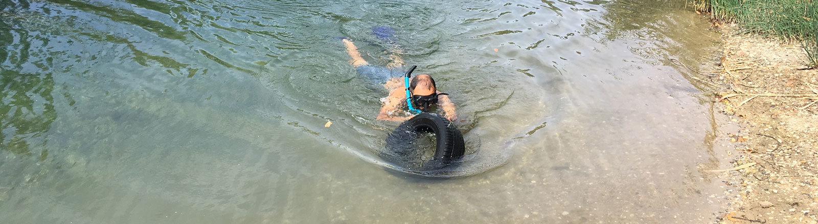 Unterwasser-Pfand-Pirat