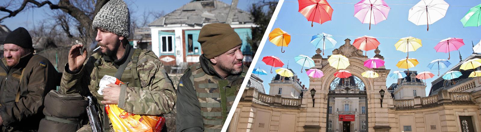 Spaltung zwischen West- und Ostukraine.