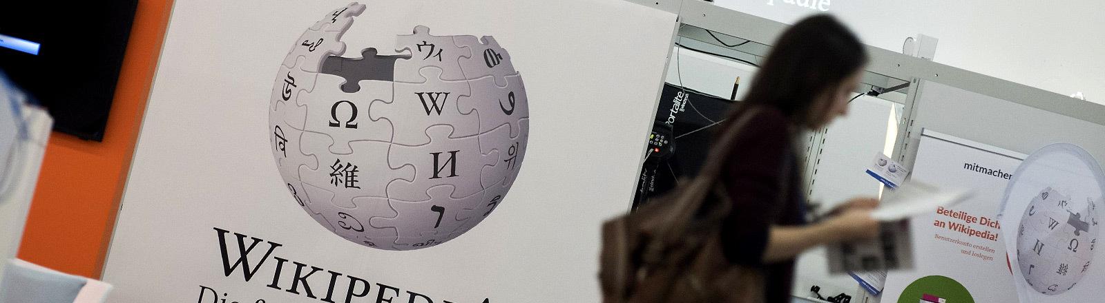 Der Stand von Wikipedia auf der Buchmesse.