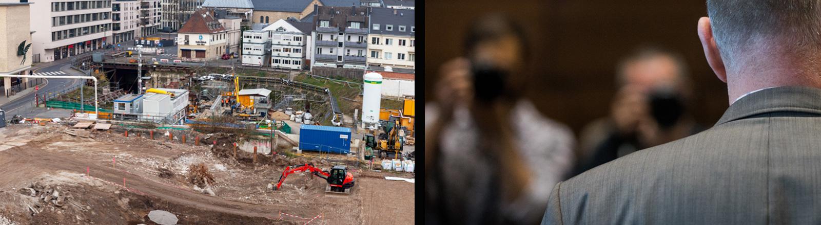 Kölner Stadtarchiv nach dem Einsturz und der Verurteilte.