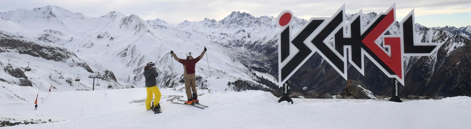 Skitourismus in Ischgl, Tirol, Österreich