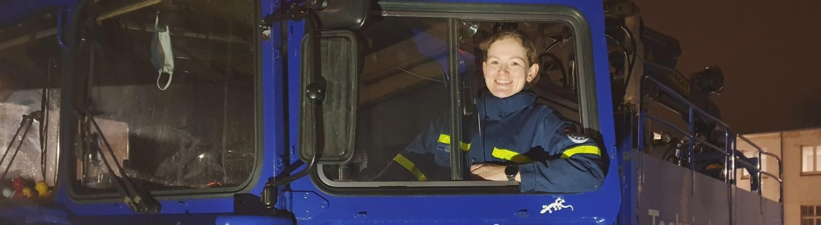 Saskia Martens vom Technischen Hilfswerk (THW).
