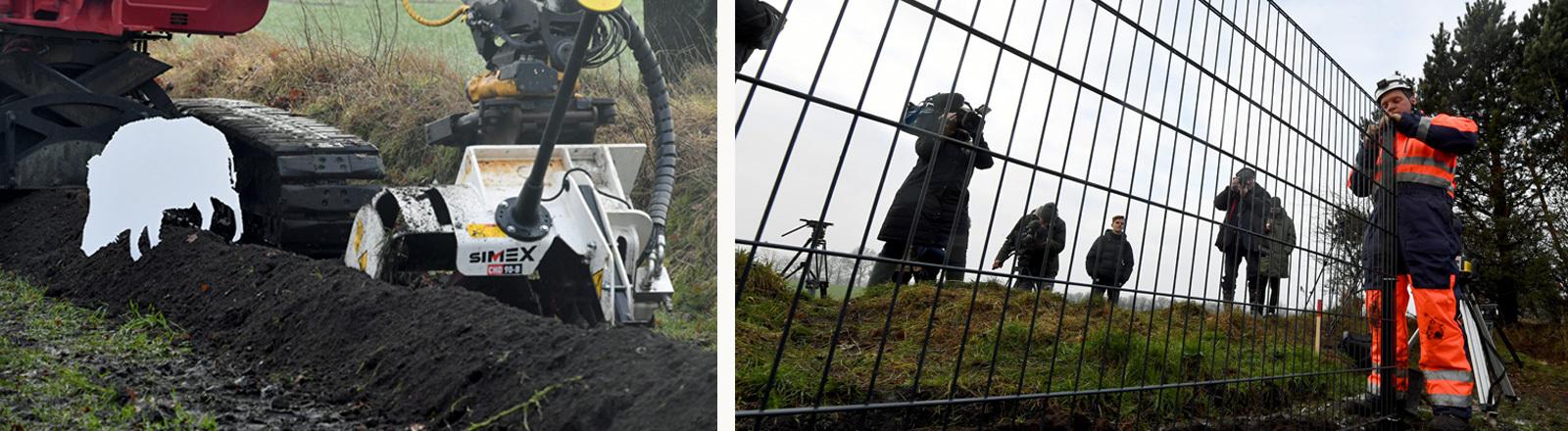Bau eines 70 Kilometer langen Wildschweinzauns entlang der dänisch-deutschen Grenze zur Abwehr der afrikanischen Schweinepest