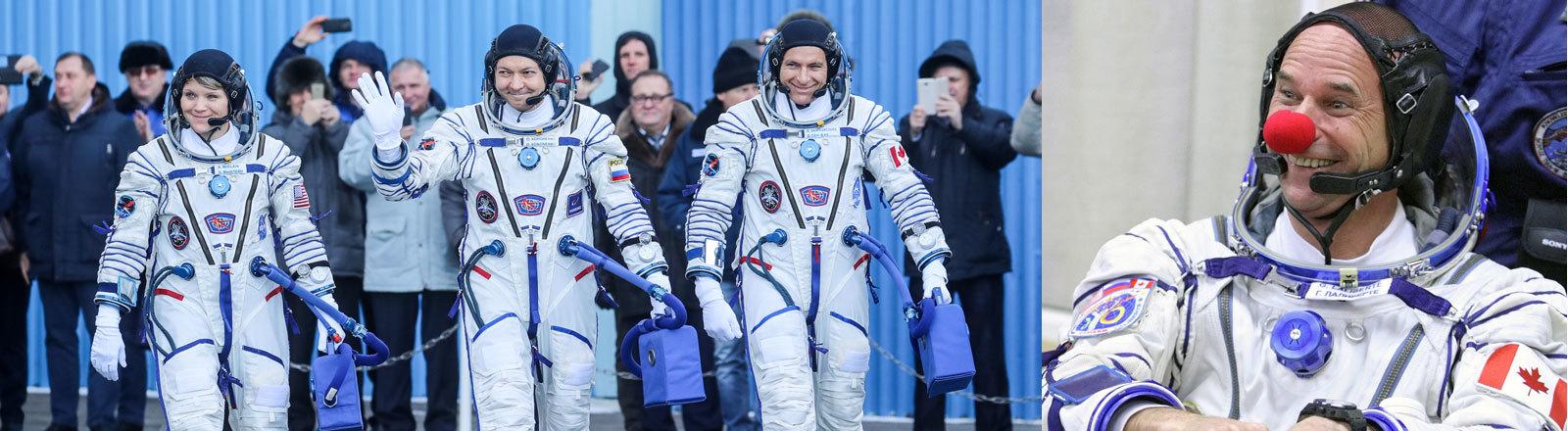 Astronauten vor einer Mission.