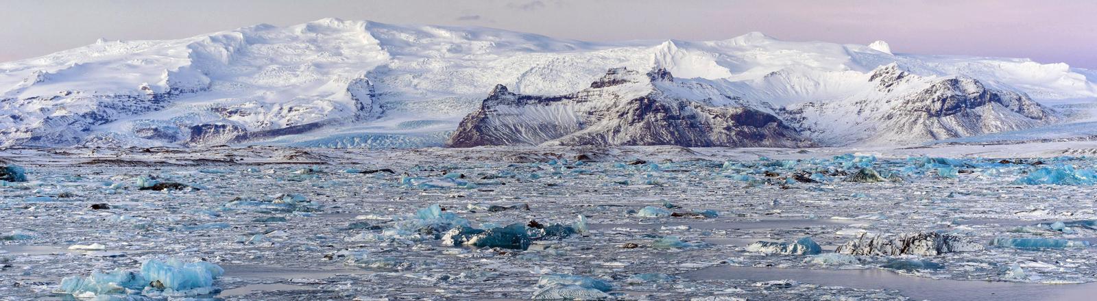 Eine Gletscherlandschaft.