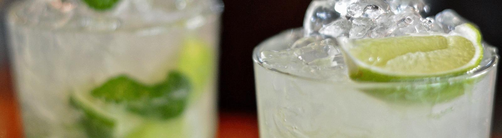 Zwei Gläser Gin Tonic.