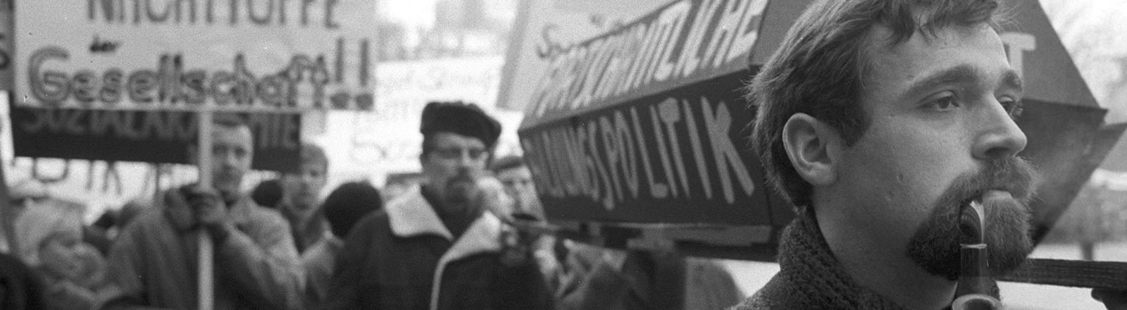 Studentendemo in Berlin 1968.