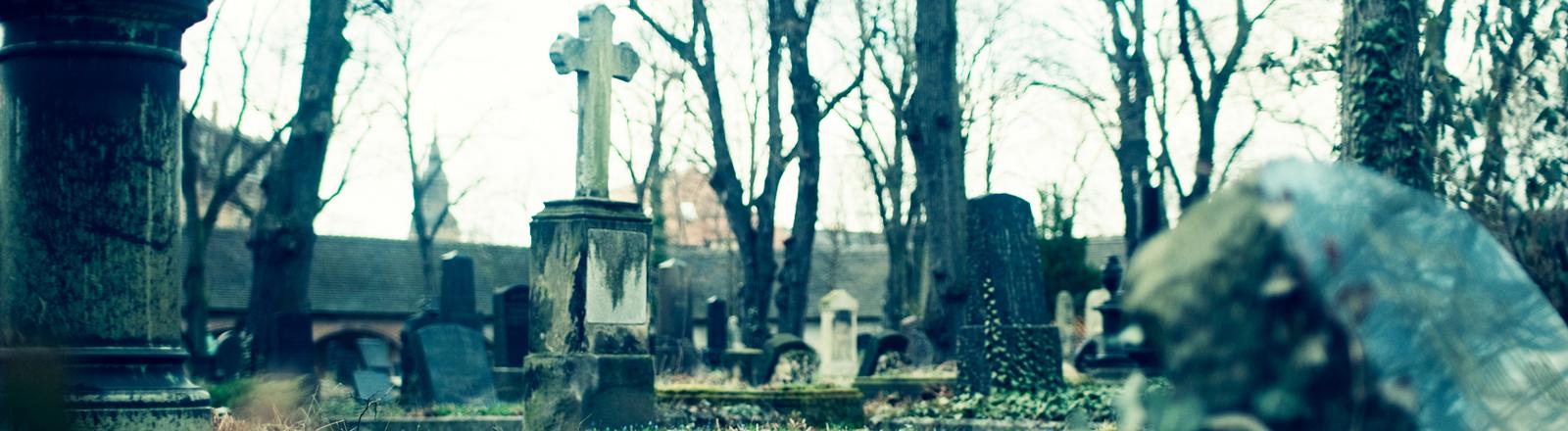 Ein Friedhof.