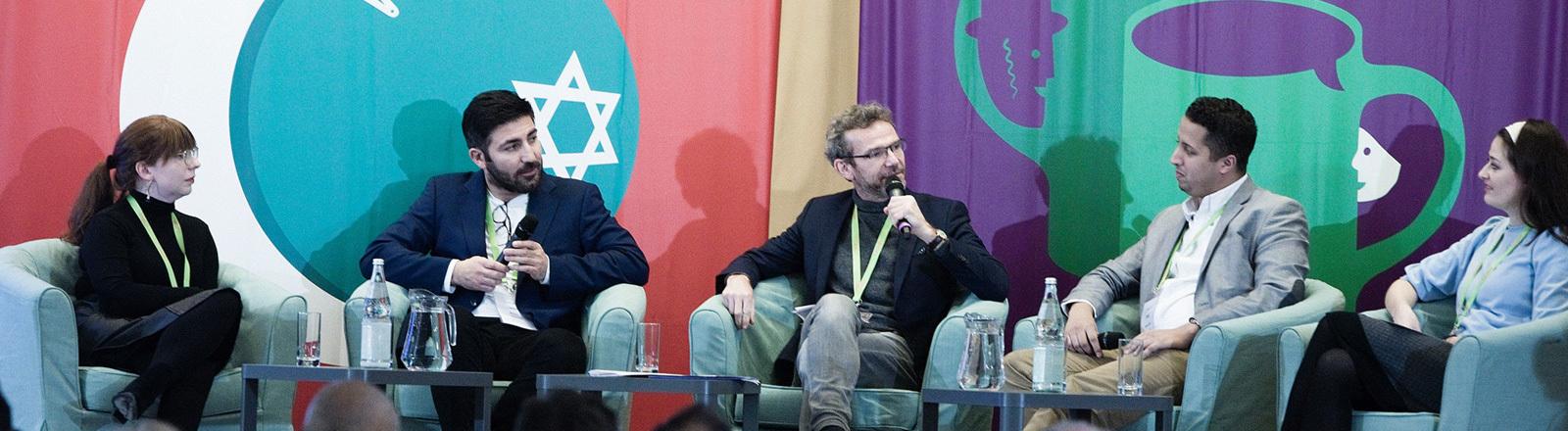 """Workshop zum Projekt """"Schalom Aleikum"""", organisiert vom Zentralrat der Juden."""