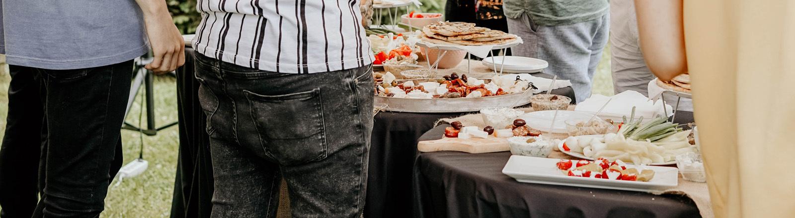 Buffet auf einer Party