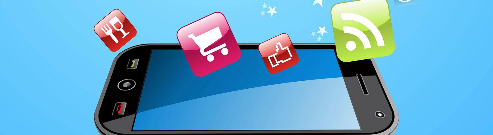 Symbolbild: Daten und Apps löschen