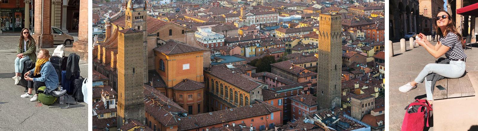 Erasmus-Studentin Leonie in der italienischen Stadt Bologna.
