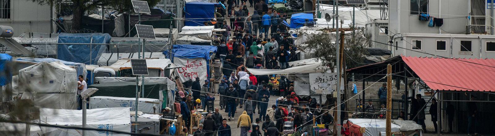 Lager Moria für Geflüchtete auf der griechischen Insel Lesbos.
