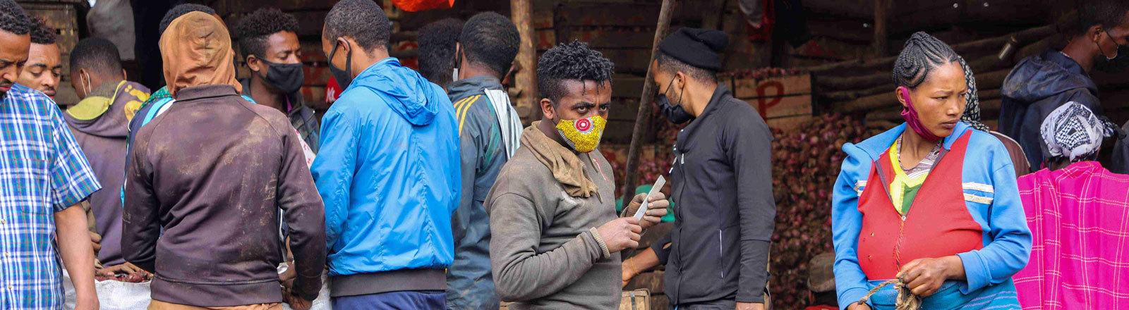 Ein Markt in Äthiopien.