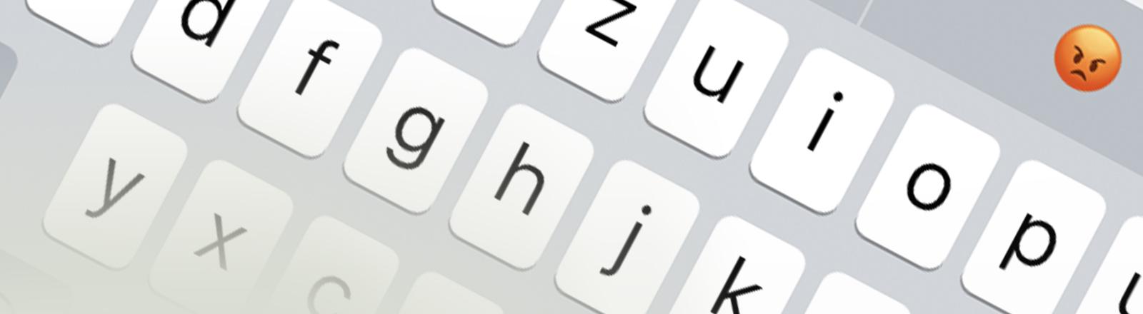 Ansicht der iOS Emoji-Vorschlagsfunktion
