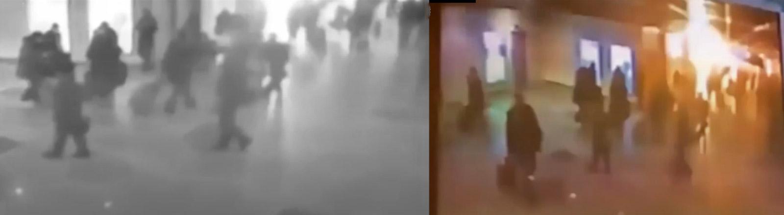 Bilder von Überwachungskameras in Flughäfen